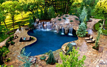 A picture of a pool landscape in columbia md